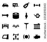 origami style icon set   car... | Shutterstock .eps vector #1018350343