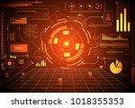abstract technology ui... | Shutterstock .eps vector #1018355353