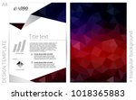 dark blue  red vector  cover...