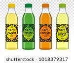 collection transparent bottles... | Shutterstock .eps vector #1018379317