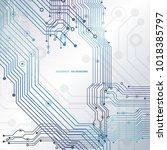 circuit board  chipset...   Shutterstock .eps vector #1018385797