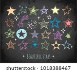 collection of colored doodle... | Shutterstock .eps vector #1018388467