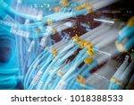 fiber optical connector... | Shutterstock . vector #1018388533