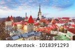 tallin old town  estonia. | Shutterstock . vector #1018391293