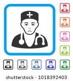 sadly physician vector... | Shutterstock .eps vector #1018392403