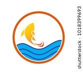 fish and sea logo vector | Shutterstock .eps vector #1018399693