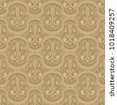 beige colour old style seamless ... | Shutterstock . vector #1018409257