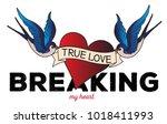 true love   grunge typography... | Shutterstock .eps vector #1018411993