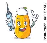 nurse butternut squash...   Shutterstock .eps vector #1018415533