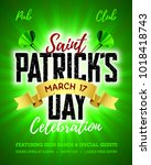 saint patrick's day  17 march ... | Shutterstock .eps vector #1018418743