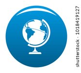 geographic planet icon vector... | Shutterstock .eps vector #1018419127