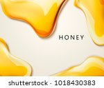 honey liquid texture  golden... | Shutterstock .eps vector #1018430383