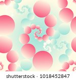 bubbles in fractal pattern... | Shutterstock .eps vector #1018452847