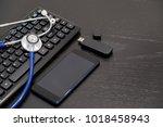 doctors working  hospital...   Shutterstock . vector #1018458943