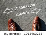 time to decide  stagnation or... | Shutterstock . vector #1018463293