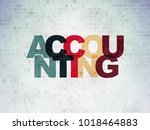 banking concept  painted... | Shutterstock . vector #1018464883