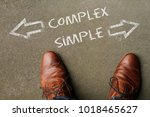 time to decide  complex or... | Shutterstock . vector #1018465627
