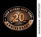 20 years anniversary.... | Shutterstock .eps vector #1018470187