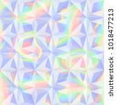 vector abstract holographic... | Shutterstock .eps vector #1018477213