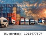 logistics and transportation of ... | Shutterstock . vector #1018477507