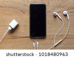 cable phone chargers  earphone... | Shutterstock . vector #1018480963