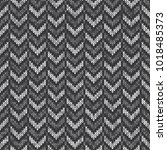 chevron abstract knitted... | Shutterstock .eps vector #1018485373