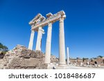 ruins of apollo temple in side... | Shutterstock . vector #1018486687