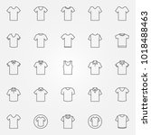 t shirt icons set. vector...   Shutterstock .eps vector #1018488463