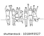 continuous line drawing of... | Shutterstock .eps vector #1018493527