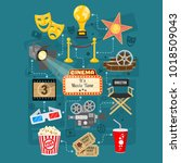 cinema and movie infographics... | Shutterstock .eps vector #1018509043