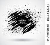 grunge splash banner | Shutterstock .eps vector #1018512157