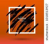 grunge background. brush black... | Shutterstock .eps vector #1018513927
