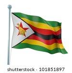 zimbabwe flag detail render   Shutterstock . vector #101851897