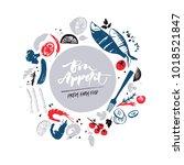 fish menu design. fresh farm...   Shutterstock .eps vector #1018521847