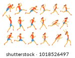 male sportsman running the...   Shutterstock .eps vector #1018526497