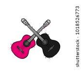 acoustic guitar. vector...   Shutterstock .eps vector #1018526773