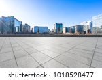 empty marble floor with... | Shutterstock . vector #1018528477