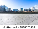 empty marble floor with... | Shutterstock . vector #1018528513