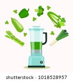 food processor  mixer  blender... | Shutterstock .eps vector #1018528957