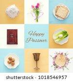 pesah celebration concept ... | Shutterstock . vector #1018546957