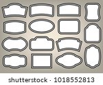 set of white plates and... | Shutterstock .eps vector #1018552813