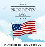 presidents day in usa... | Shutterstock .eps vector #1018555603
