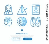 psychologist thin line icons...   Shutterstock .eps vector #1018559137