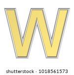one letter from yellow with... | Shutterstock . vector #1018561573