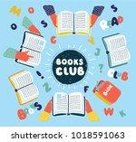 vector cartoon illustration of...   Shutterstock .eps vector #1018591063