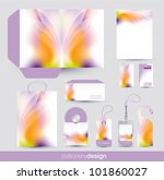 stationery design set in vector ... | Shutterstock .eps vector #101860027