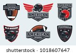 set of american football... | Shutterstock .eps vector #1018607647