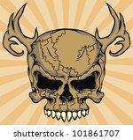 grunge skull isolated   Shutterstock .eps vector #101861707