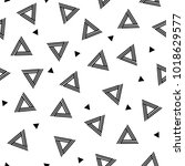 striped triangle geometric... | Shutterstock . vector #1018629577