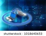 3d rendering computer network   Shutterstock . vector #1018640653